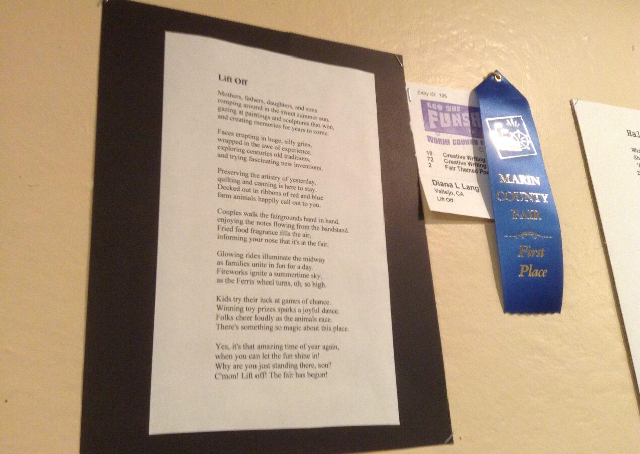 Lift Off! – Blue Ribbon Winner Marin County Fair